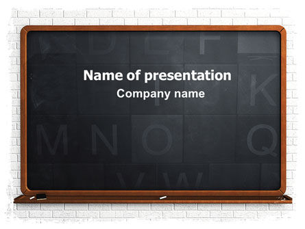 Blackboard PowerPoint Template, 06184, Education & Training — PoweredTemplate.com