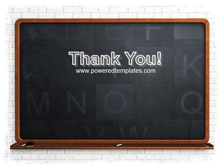 Blackboard PowerPoint Template Slide 20