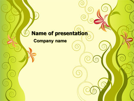 Ivy Theme PowerPoint Template, 06186, Abstract/Textures — PoweredTemplate.com