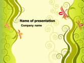 Abstract/Textures: Ivy Theme PowerPoint Template #06186