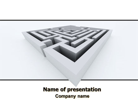 Business Concepts: Square Labyrinth PowerPoint Template #06187