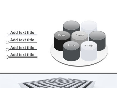 Square Labyrinth PowerPoint Template Slide 12