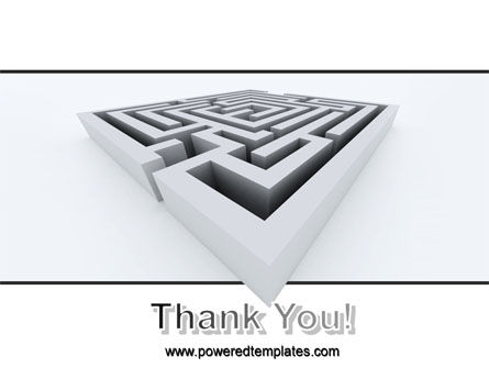 Square Labyrinth PowerPoint Template Slide 20