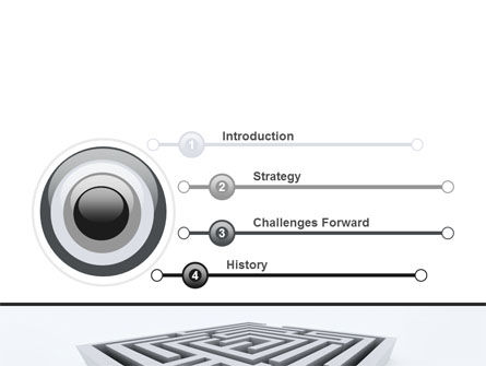 Square Labyrinth PowerPoint Template, Slide 3, 06187, Business Concepts — PoweredTemplate.com