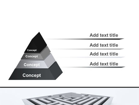 Square Labyrinth PowerPoint Template, Slide 4, 06187, Business Concepts — PoweredTemplate.com