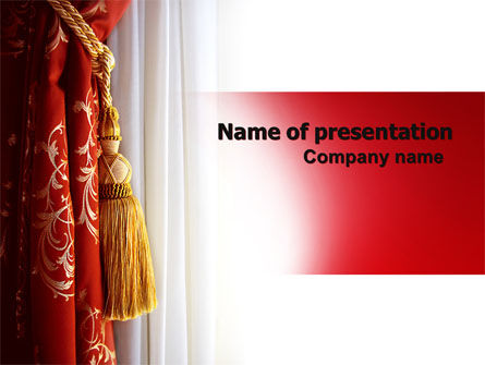 Careers/Industry: Curtain PowerPoint Template #06188