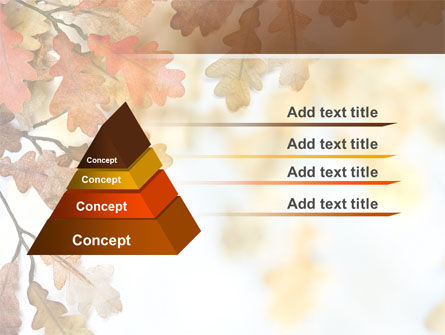 Yellow Oak Leaves PowerPoint Template, Slide 4, 06189, Nature & Environment — PoweredTemplate.com