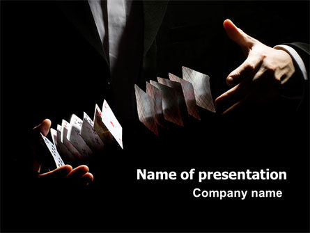 Card Trick Free PowerPoint Template, 06190, Careers/Industry — PoweredTemplate.com