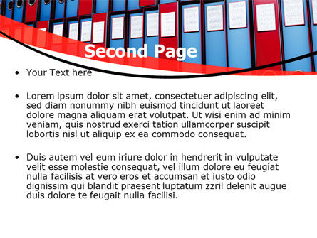 Record Keeping Office PowerPoint Template Slide 2