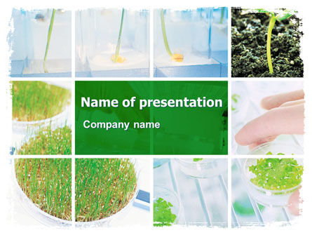 Technology and Science: Plant Breeding In Laboratory Free PowerPoint Template #06192