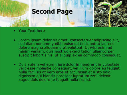 Plant breeding in laboratory free powerpoint template backgrounds plant breeding in laboratory free powerpoint template slide 2 06192 technology and science toneelgroepblik Gallery