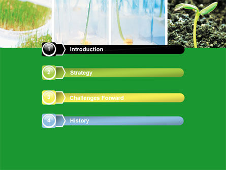 Plant Breeding In Laboratory Free PowerPoint Template, Slide 3, 06192, Technology and Science — PoweredTemplate.com