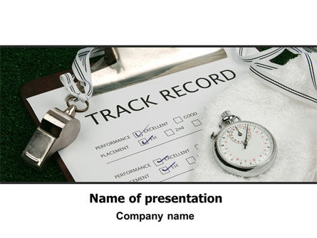 Sports: Track Record PowerPoint Template #06193
