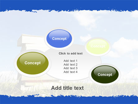 Book Pile PowerPoint Template Slide 16