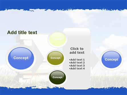 Book Pile PowerPoint Template Slide 17