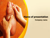 Medical: Feet Massage PowerPoint Template #06196
