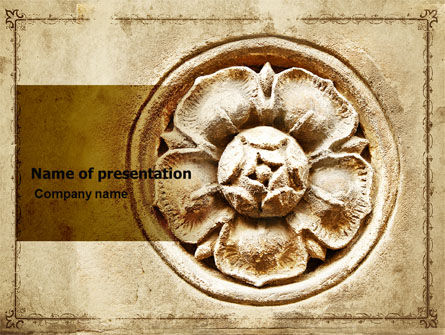 Art & Entertainment: Wall Relief PowerPoint Template #06197