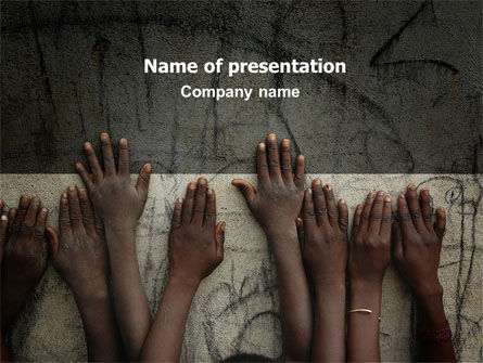 Poor Children PowerPoint Template, 06198, Religious/Spiritual — PoweredTemplate.com