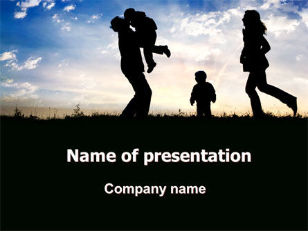 People: Family Happiness PowerPoint Template #06199