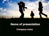 Family Happiness PowerPoint Template#1
