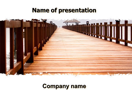 Beach Pier PowerPoint Template, 06200, Business Concepts — PoweredTemplate.com