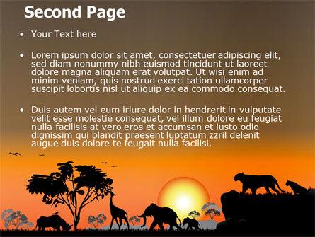 Savanna Sunset PowerPoint Template, Slide 2, 06202, Nature & Environment — PoweredTemplate.com