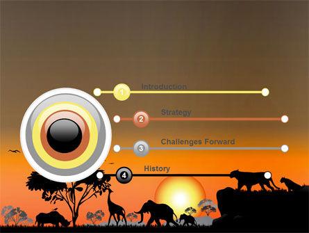Savanna Sunset PowerPoint Template, Slide 3, 06202, Nature & Environment — PoweredTemplate.com