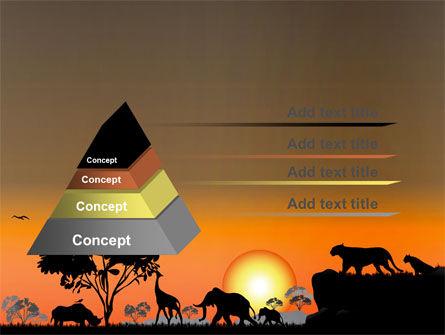 Savanna Sunset PowerPoint Template, Slide 4, 06202, Nature & Environment — PoweredTemplate.com