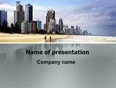 Construction: City Beach PowerPoint Template #06204