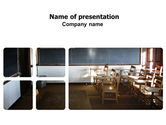 Education & Training: Recitation Room PowerPoint Template #06205