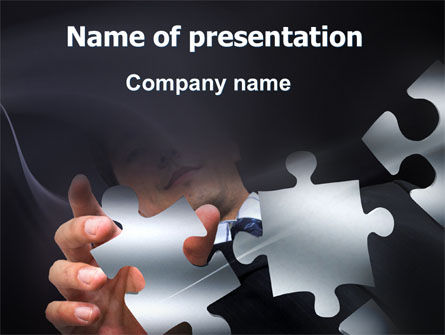 Solving Puzzle PowerPoint Template, 06207, Consulting — PoweredTemplate.com