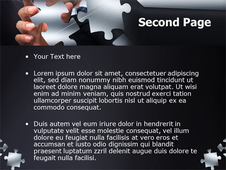 Solving Puzzle PowerPoint Template, Slide 2, 06207, Consulting — PoweredTemplate.com