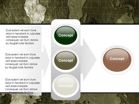 Metal Map PowerPoint Template Slide 11