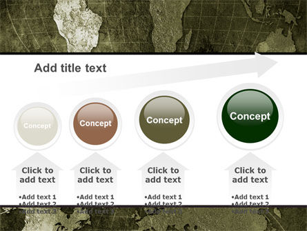 Metal Map PowerPoint Template Slide 13