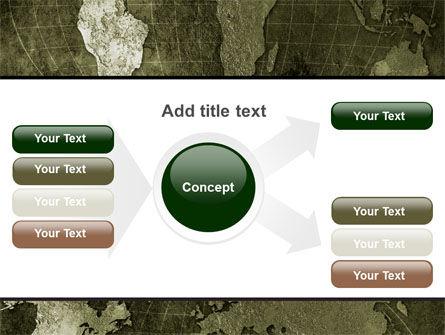 Metal Map PowerPoint Template Slide 14