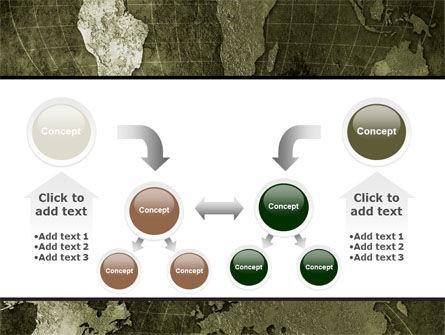 Metal Map PowerPoint Template Slide 19