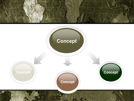 Metal Map PowerPoint Template, Slide 4, 06208, Global — PoweredTemplate.com