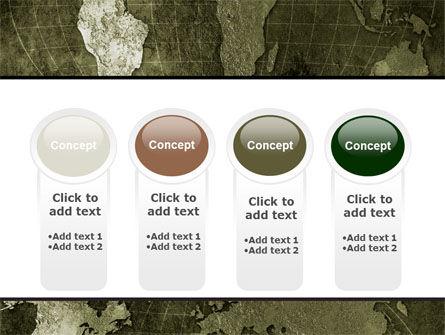 Metal Map PowerPoint Template Slide 5