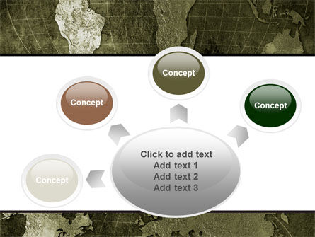 Metal Map PowerPoint Template Slide 7