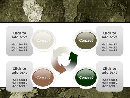 Metal Map PowerPoint Template Slide 9
