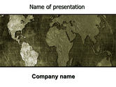 Global: Metal Map PowerPoint Template #06208