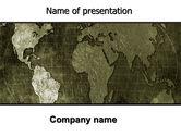 Global: 파워포인트 템플릿 - 금속지도 #06208