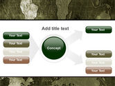 Metal Map PowerPoint Template#14