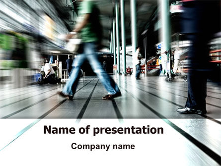 Moving People PowerPoint Template, 06209, Consulting — PoweredTemplate.com