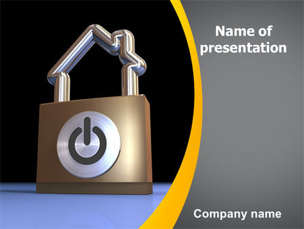 Consulting: High Tech Security PowerPoint Template #06210
