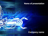 Technology and Science: Artificial Hand PowerPoint Template #06211