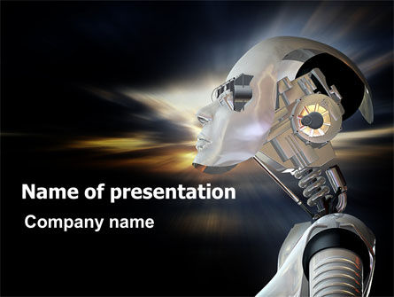 Artificial Head PowerPoint Template, 06212, Technology and Science — PoweredTemplate.com