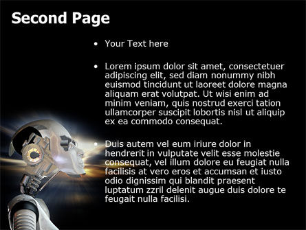 Artificial Head PowerPoint Template, Slide 2, 06212, Technology and Science — PoweredTemplate.com
