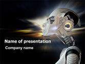 Technology and Science: Artificial Head PowerPoint Template #06212