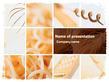 Food & Beverage: Pasta PowerPoint Vorlage #06213